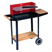 BBQ Collection Barbecue-Grill Rood/Zwart/Hout